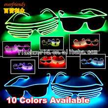 Party EL Sunglasses EL Wire Sunglasses Flashing Decoration Vivid Light but subdued Light No Harm to Eyes Christmas new year gift