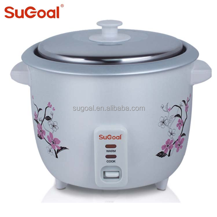 Drum type 1.8L rice cooker with stainless steel lid