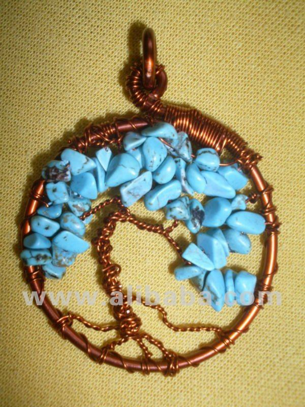 Turquoise and Copper Tree of Life