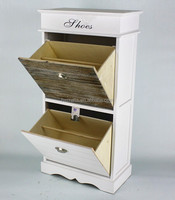 New Design Two Pull Outdoor Shabby Chic Cabinet Style Shoe Rack