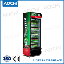 Upright display cooler/single door beverage showcase cooler
