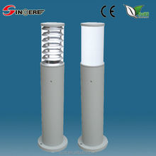 LED garden post light Aluminium housing and PC cover led landscape lighting outdoor light