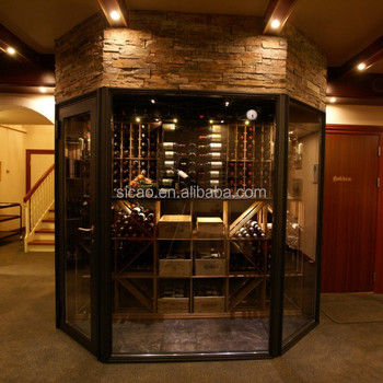 1000-2000 bottles Luxury Stainless Steel electric wine cellar DIY design