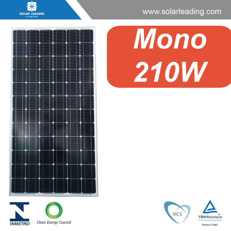 Best price 210w photovoltaic module connect to dc ac power inverter for residential on grid solar energy systems