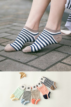 stripes and dots design lightly sexy women ankle sock