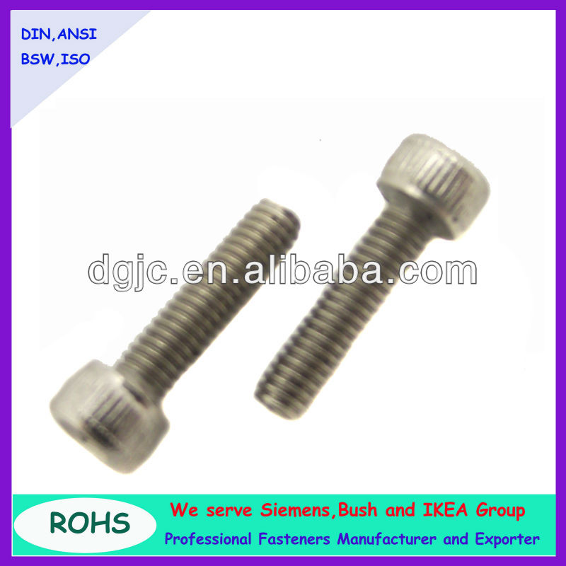 Hex socket head cap screw , captive washer cap screw