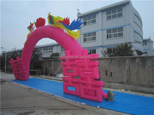 2017 Inflatable Dragon and phoenix wedding entrance arch for advertising