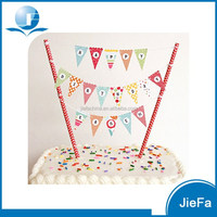 Kid Birthday Cake Banner Happy Birthday Cake Decoration