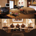 Brown color bedroom suite room furniture, Hotel project for bedroom set (EMT-SHL75)