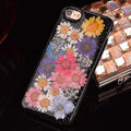 Real Flower tpu gel case cover for iPhone 6 iPhone 6 Plus, Black tpu genuine flower case for iPhone 6