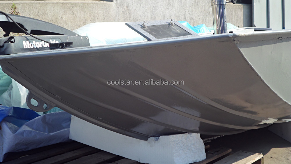 A type aluminum fishing boat with casting deck view for Fishing boat types