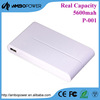 Li-polymer wiredrawing slim power bank 10000 mah