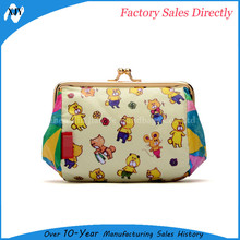 Wholesale cartoon cosmetic bag cute animal print makeup case