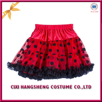 Lovely Beautiful Girl Summer Tulle Polka Dot Puffy Lace Tutu Skirt
