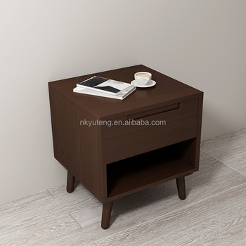Indoor furniture Simple and modern Northern Europe style solid wood bedroom bedside table