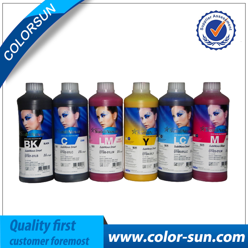 Korea sublimation smart water based dye digital sublimation ink for cotton fabric transfer printing