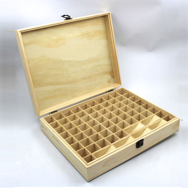 Authentic Art Essential Oil Wooden Case Leather Clamshell Oil Box