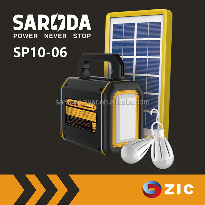 small solar camping kit, home Portable solar power sytem with DC output for lighting and digital appliances