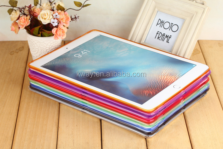 "Glossy TPU Soft Transparent Case Cover Skin Protector for Apple iPad Pro 12.9"" 9.7"" for iPad air for iPad mini 4 3 soft tpu case"