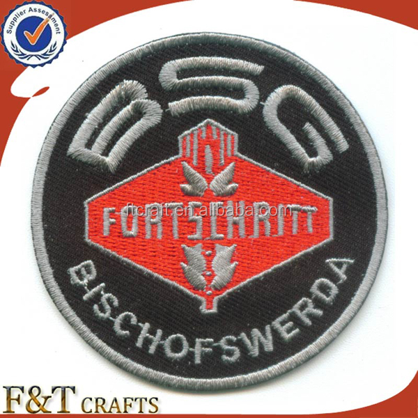 high qualiti fashion laser cut round adhesive embroidery patch