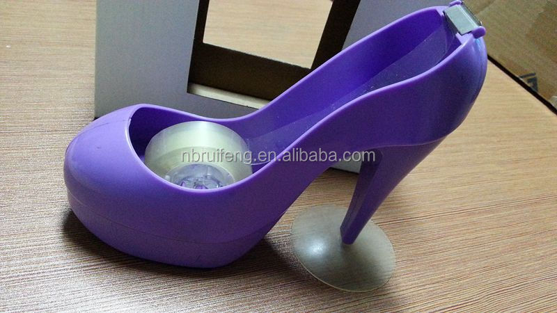 Plastic Shoe Shape Tape Dispenser For Office And Home Use