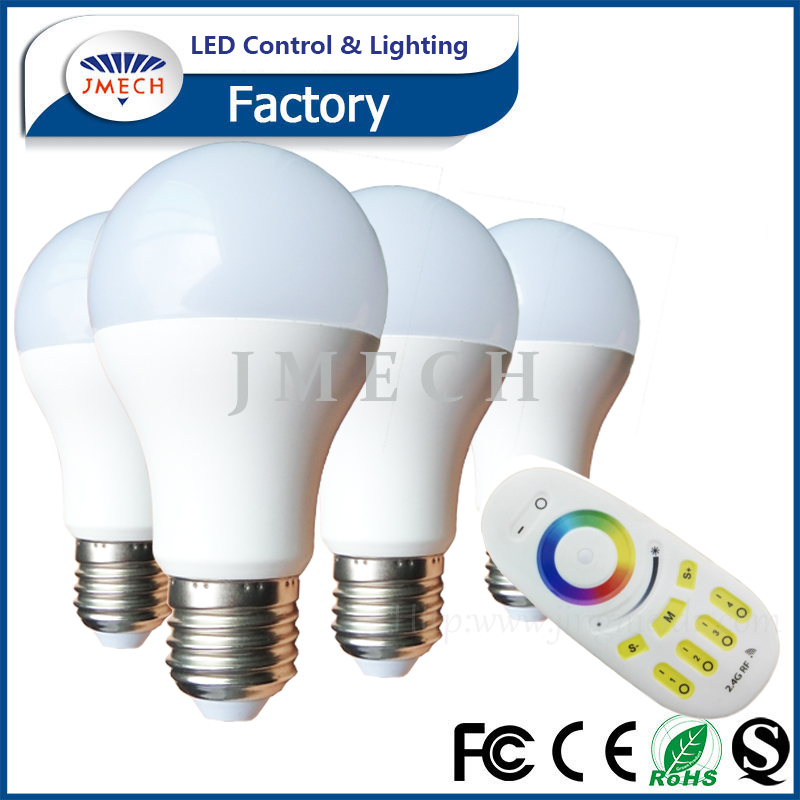 Nano-ceramic housing style energy saving RF Remote e27 led light bulb 9w E27 led bulb