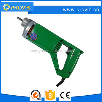 PV35 Poly carbon enclosed electric portable concrete vibrator with CE certificate