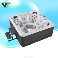 2016 new Spa massage hot tub indoor/outdoor Acrylic Bathtub