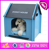 2015 new style Cute pet house for dogs, High quality handmade wooden dog bed W06F002C