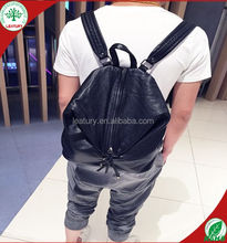 wholesale multifunctional backpack leather bags men pu leather backpack Korea style