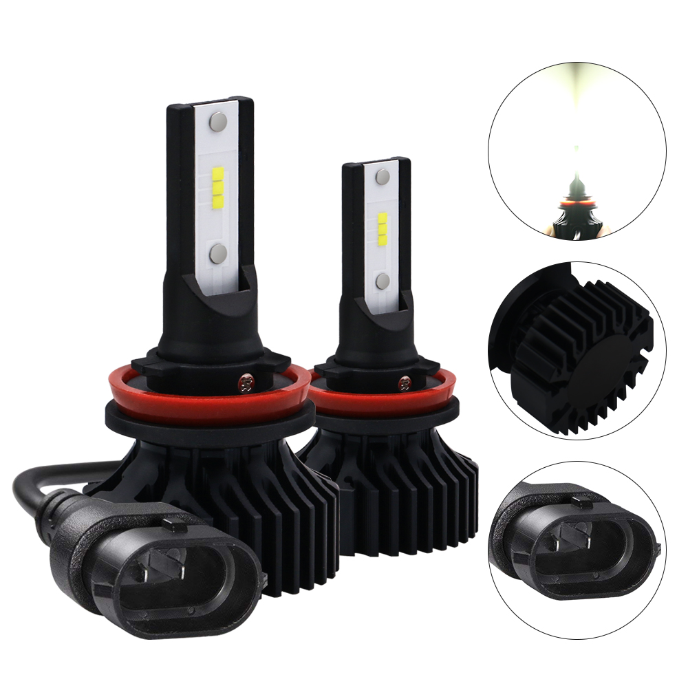 High Quality White Yellow Fog Bulb Zes V8 H11 H11B <strong>Halogen</strong> Led Canbus Hid Kit Car Headlight