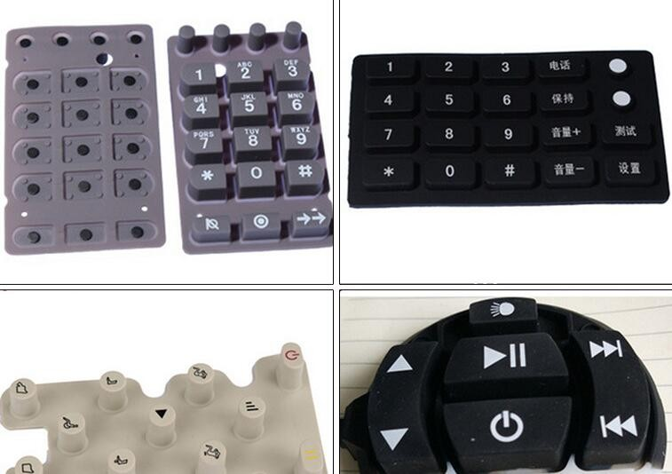 POS high quality silicone rubber keypad with conductive carbon pill for POS machine