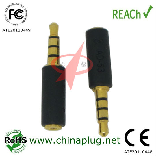 Good quality 2.5mm to 3.5mm adapter headphone jack
