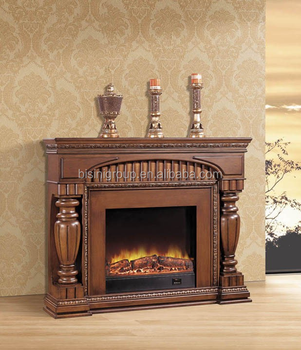 Vintage Decor Flame/Log Insert 3 sided Electric Fireplace For Home