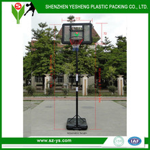 Portable basketball hoop adjustable with standard basketball basket