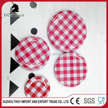 round shape sealed lug cap with printing great price
