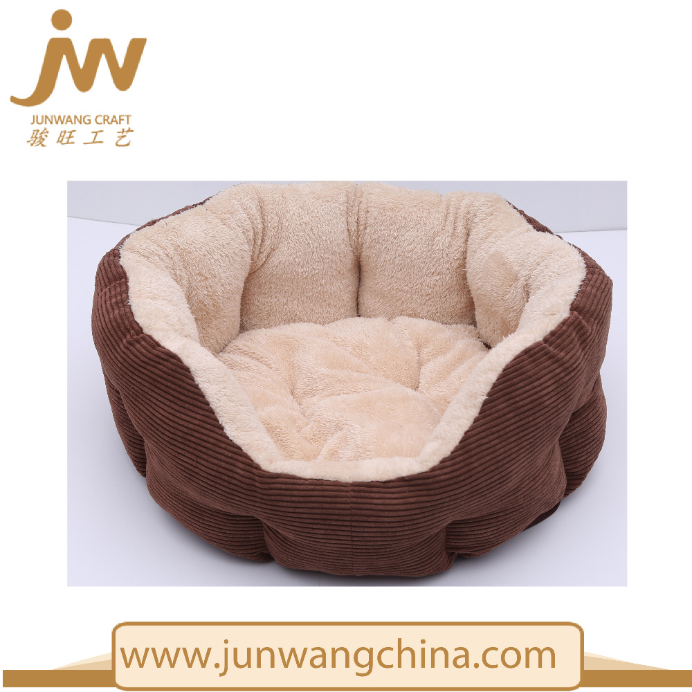 Bolster Sofa-Style with Removable Cushion Non-Slip Base Plush Pet Bed
