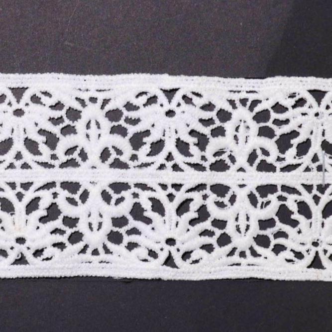 2 metres of ivory rigid soft delicate floral lace edge trim 13mm wide 1cm design