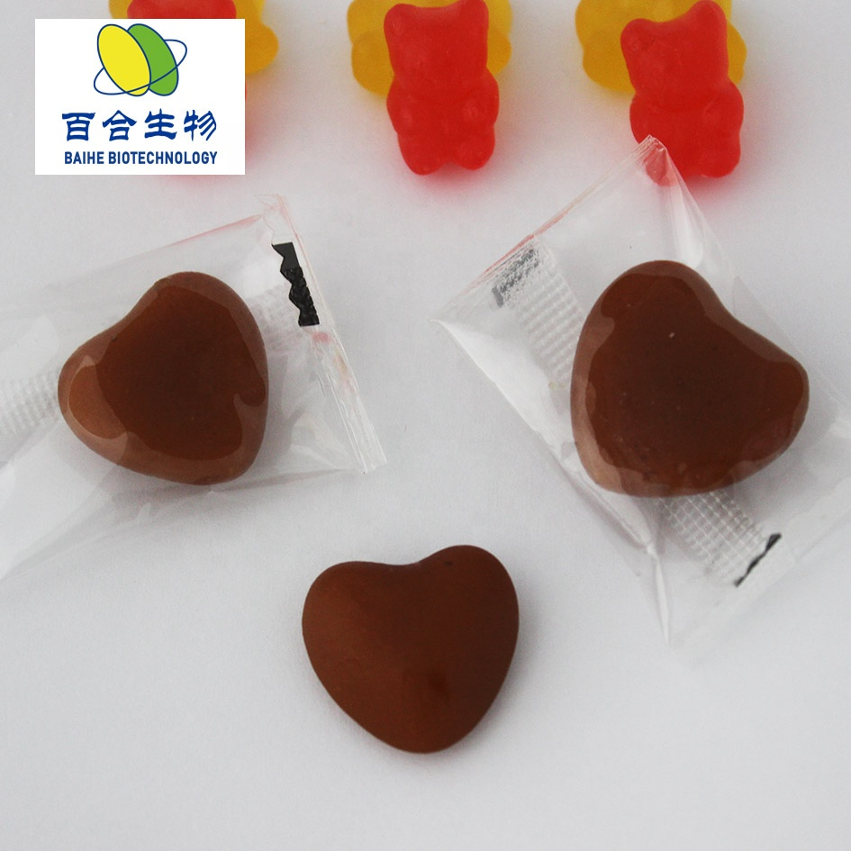 China supplier Kosher Halal certificate bear gummy candy for hair biotin