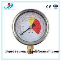 Y100-BG271 bottom glycerin or silicone oil filled 63mm pressure gauge Supplier's Choice