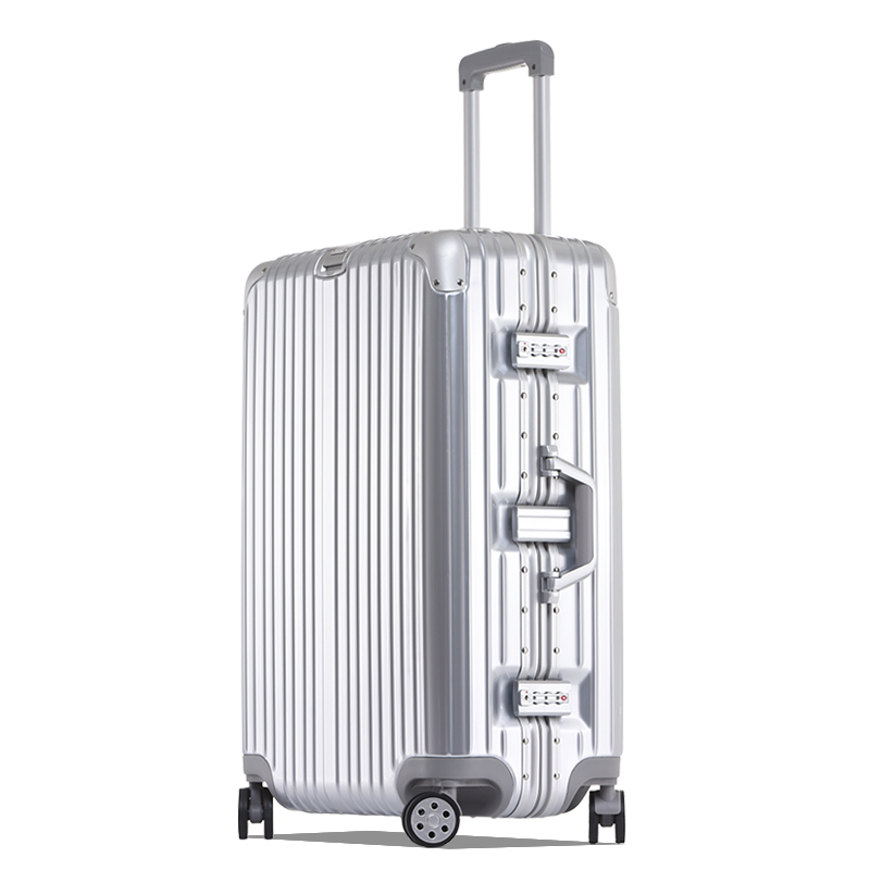 2017 new design fabric trolley bag, 4 wheels travel trolley luggage bags, cheap dsigner suitcase
