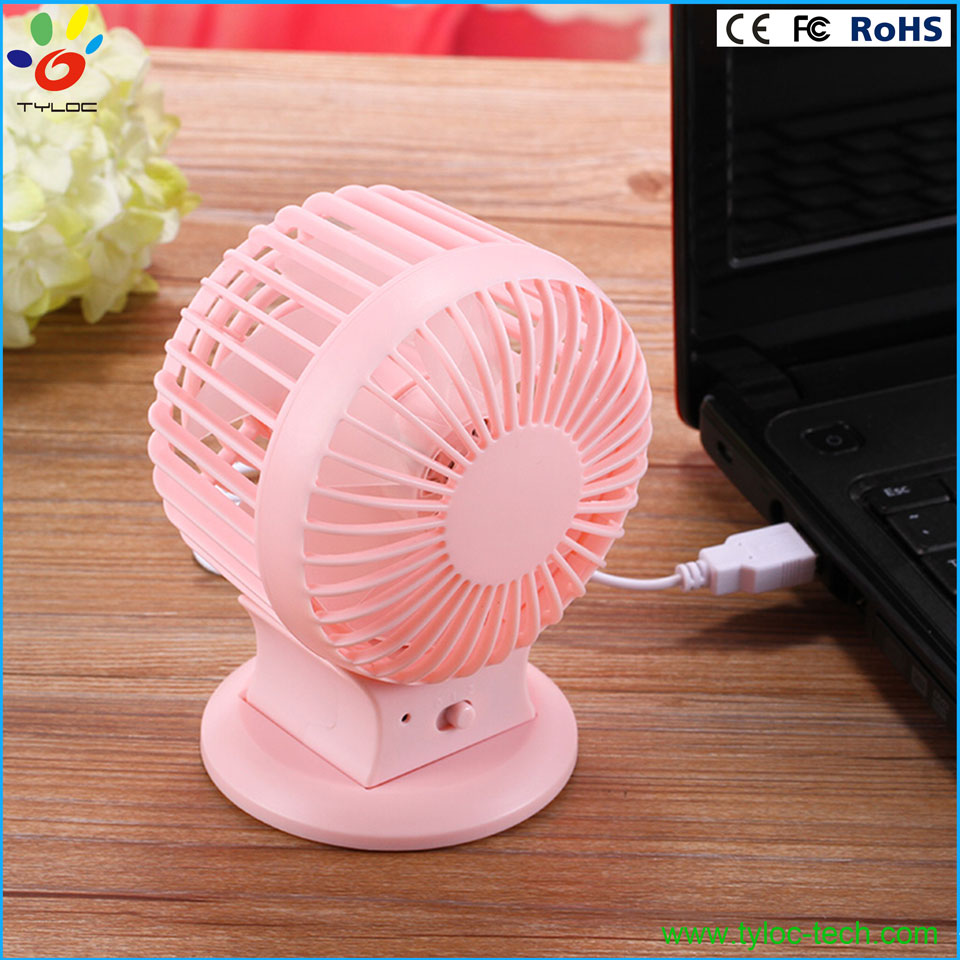 Hot design high performance portable usb table fan, rechargeable dual blade fan.