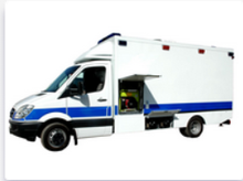 Mobile Intensive Care and Surgery Vehicle based on box type sprinter/ford/vw/iveco
