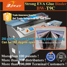 Hot melt Strong EVA glue automatic book cover clamp binding machine