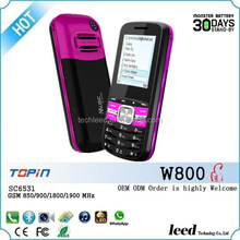 guatelama TOPIN brand W800 WhatsApp function support phone 1.77 inch feature cell phone