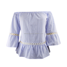 Women New Design Tops Long Ruffles Sleeve Blouse Ladies Zipper Loose Tops women crop top