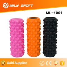 MILY SPORT PU and EVA solid exercise fitness yoga foam roller for relax