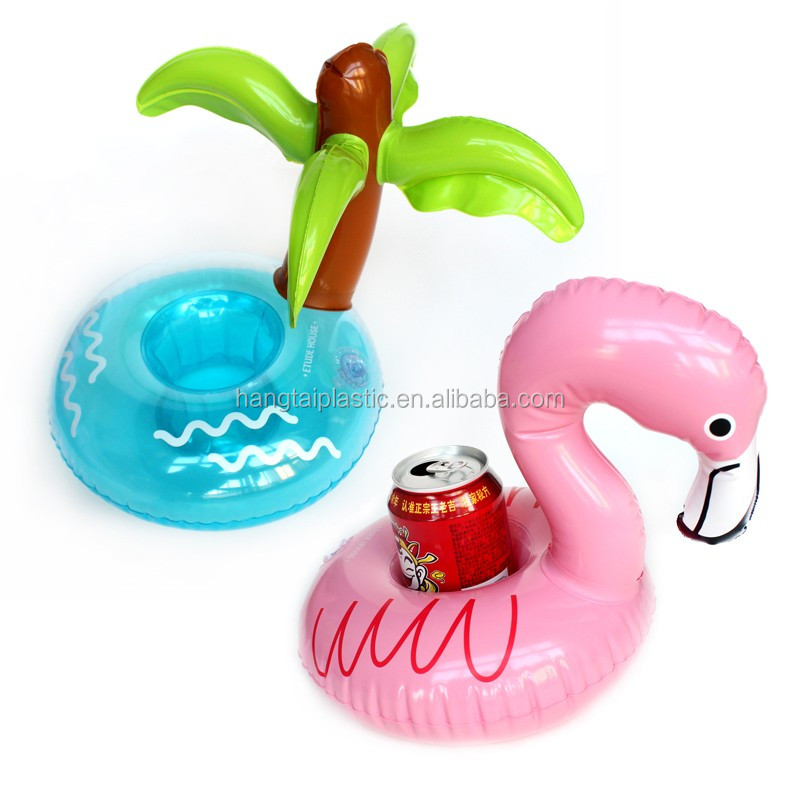 duck flamingo palm tree floating drink holder, pool party drink float