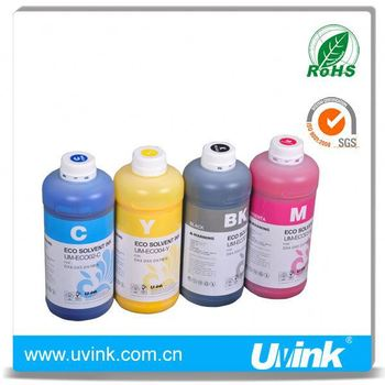 UVINK china supplier for Mutoh blizzard 65 eco solvent ink