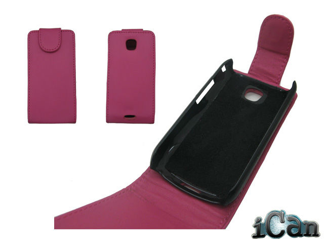 Lovely Pink new flip leather case cover for Samsung i5800 galaxy 3